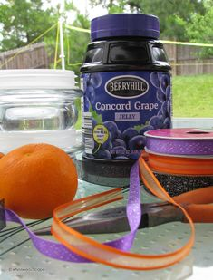 DIY Oriole Feeders — Repurpose your old candle lids to make feeders for your feathered friends! Oriole Bird Feeders, Diy Bird Feeder, Homemade Grape Jelly, Concord Grape Jelly, Baltimore Orioles Birds, Nectar Recipe, Birdhouse Designs, Birdhouse Ideas