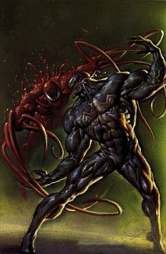 Awesome pic of Venom and Carnage.