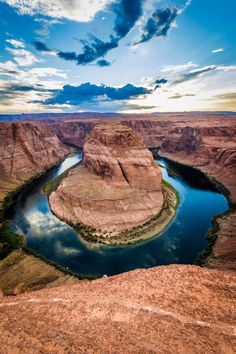 America's Most Beautiful River  Where: Colorado River, Arizona  Why We Love It: While the Colorado River flows all the way from the Rocky Mountains to Mexico, head to Horseshoe Bend near the border of Arizona and Utah for the most Instagrammable view.