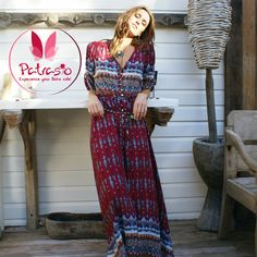 Bohemian Printing Long Dress Women Maxi Long Dress Floral Print Retro Hippie New Vestidos Chic Brand Clothing Boho Dress Plus Size Maxi Dresses, Summer Dresses, Long Dresses, Dress Long, Vintage Long Dress, Retro Dress, Very Short Dress, Chiffon Maxi, Fashion Moda