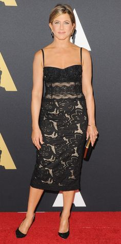 Jennifer Aniston's Red Carpet Style - In Zuhair Murad, 2014 - from InStyle.com