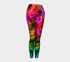 Colorful Leggings, Yoga Leggins, Red, Purple, Teal, Green, Printed Leggings, Womens Clothing, Womens Leggings, Sport Pants, Smoky Design