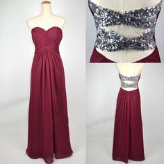 would be awesome for a military ball! or prom. Strapless Sweetheart with Beading Chiffon Dress