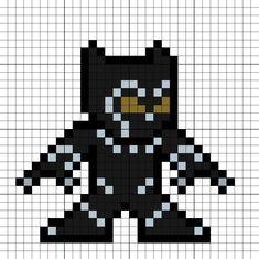 Black Panther (T'Challa) Perler Bead Pattern