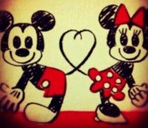 Inspiring image drawing, adorable, mini mouse, disney, mouse, mickey mouse, love, cute,