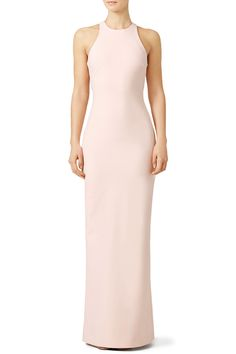 This light pink Elizabeth and James prom gown is minimally cut and feminine.