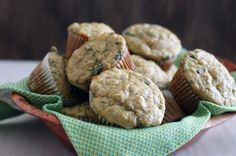 zucchini, feta, & olive oil muffins | withloveandcupcakes.com