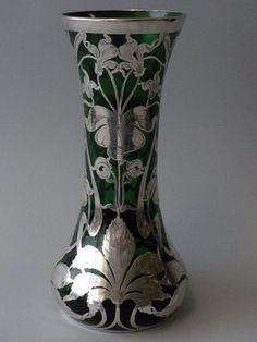 Antique Silver Overlay Vase