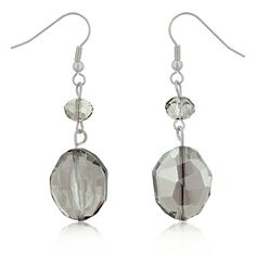 Clear simulated earrings.Now these will go with everything in your closet! No worries here on color co-ordination here