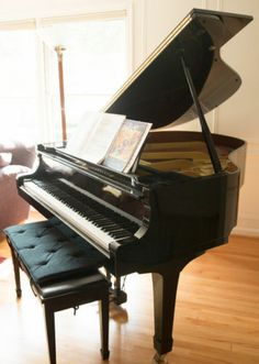 Okay, now this one would be more in our price range. I'm not really a fan of black pianos though, so we'll probably go with cherry.