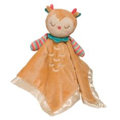 Lil Snuggler Owl - Lil Snugglers combine a soft blankie with a plush baby toy. Lil Snuggler Owl is a soothing cuddle toy for baby Plush Baby Blankets, Lovey Blanket, Baby Stuffed Animals, Shower Bebe, Baby Lovey, Baby Owls, Plush Animals, Pet Toys, Snuggles