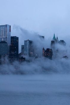 Blue Foggy New York City by laverrue was here