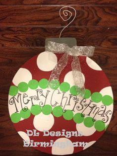 Hey, I found this really awesome Etsy listing at https://www.etsy.com/listing/110135454/christmas-ornament-door-hanger