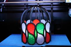 Pseudo Stained Glass lamp by infinityplusplus. Based on a design by MakeALot.