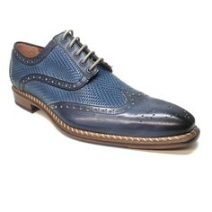 Jose Real Blue Woven Leather Wing-tip Dress Shoes skin: leather style: wingtip color: blue Oxford Sneakers, Leather Sneakers, Oxford Shoes, Dress Loafers, Dress With Sneakers, White Leather Dress, Coronado Leather, Men's Shoes, Dress Shoes