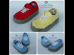 Vans Tejidos a crochet Crochet Booties Pattern, Crochet Baby Boots, Crochet Slippers, Baby Boy Shoes, Baby Booties, Tenis Vans, Wrap Shoes, Baby Sneakers, Crochet For Kids