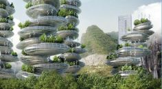 Urban vertical farms in Shenzhen (project) - Vincent Callebaut
