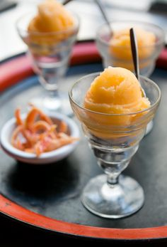 Make this refreshing Tangerine Sorbet with fresh citrus. It's the perfect dessert - just right after dinner, served by itself or with candied tangerine peel!