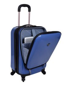 This Navy 20'' Expandable Spinner Travel Case is perfect! #zulilyfinds