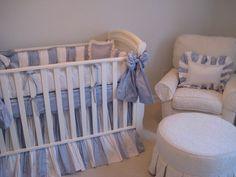 Vanessa Crib with Little Bunny Blue bedding