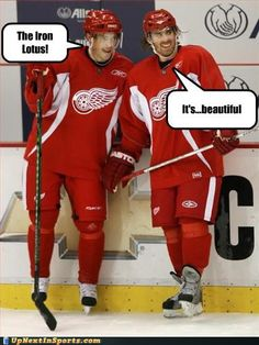 Blades of Glory meets Hockeytown. Priceless.