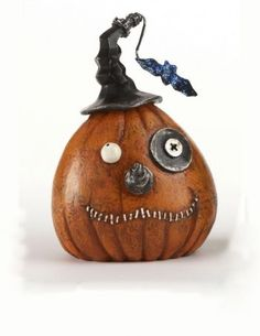 Steampunk Pumpkin Bot Head -  Orange