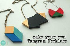 DIY Tangram Necklace @ mintedstrawberry.blogspot.com