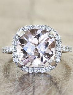 engagement rings with morganites by Ken & Dana Design