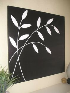 black and white wall art pretty self explanatory if you want to make it yourself.