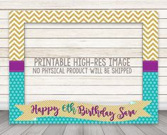 PRINTABLE birthday party photo booth frame photo by HappyBarn
