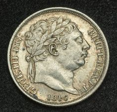 Coins of Great Britain - Sixpence Silver Coin British six pence silver coin Great Britain Sixpence - 6 Pence Silver Coin of 1816 issu. Pound Sterling, Painting Words, Coin Worth, Gold And Silver Coins, Proof Coins, World Coins, Rare Coins, King George, Coin Collecting