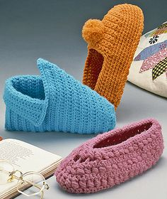 Women's and Children's Crochet Slippers Pattern ePattern