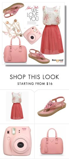 """Banggood 8/3"" by goldenhour ❤ liked on Polyvore featuring Fujifilm"