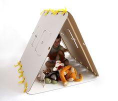 Make a 3-panel, collapsible tent © Domeček, kde na nohy mi táhne :)