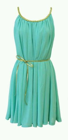 Turquoise Greek dress