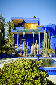 Le Jardin Majorelle, Marrakech, Maroc More Musee yves saint laurent Marrakech Oh The Places You'll Go, Places To Travel, Places To Visit, Travel Destinations, Villa, Jardim Majorelle, Marrakech Morocco, Marrakech Travel, Parcs