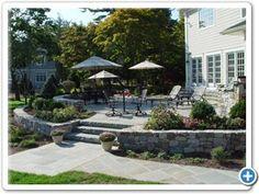 New Jersey Raised bluestone patio