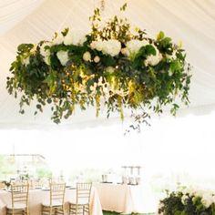 chandelier fleuri diy