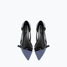 Image 2 of FLAT SHOES WITH BOW from Zara