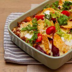 Tacograteng Nachos, Enchiladas, Bruschetta, Ethnic Recipes, Food, Essen, Meals, Tortilla Chips, Yemek