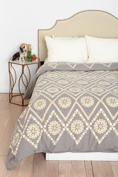 Plum  Bow Two-Tone Eyelet Duvet Cover  I want my small space to be AWESOME. I entered the #UrbanOutfitters Pin A Room, Win A Room Sweepstakes! #smallspace