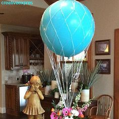 "Hot Air Balloon Net use with 36 inch Round Balloons Great for Centerpiece and Photo Props Weddings Birthdays ""Shipping Same Day"""
