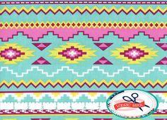 AZTEC CHEVRON STRIPE Fabric by the Yard, Fat Quarter Pink & Aqua Fabric Aztec Fabric Quilting Fabric 100% Cotton Fabric Apparel Fabric a5-3