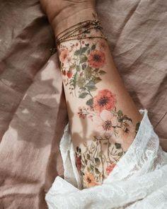 Blumen Blumen und mehr Blumen t # Tattoo # Flowerstattoo # Wildflowers # Drawing # Paiting # Temporäre Tattoos # Myartwork # Illustration # Art to make temporary tattoo crafts ink tattoo tattoo diy tattoo stickers Piercings, Piercing Tattoo, Cute Tattoos, Body Art Tattoos, Sleeve Tattoos, Foot Tattoos, Flower Tattoo Sleeves, Flower Arm Tattoos, Nature Tattoos