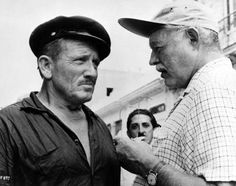 Spencer Tracy & Ernest Hemingway ~ A very skeptical and penetrating gaze.  A BS detector at work.