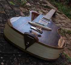 Electro acoustic guitar Handmade Luthier fanned by RauloGuitars, $2100.00. OH so pretty!