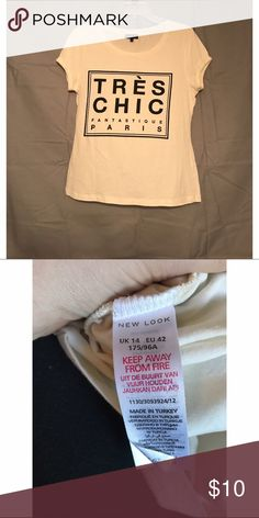 New Look Tres Chic Shirt Size UK 14, US Large size U.K. 14 which converts to a US Large. in excellent condition. comes from a smoke free, pet friendly home. 🚫NO TRADES New Look Tops Tees - Short Sleeve