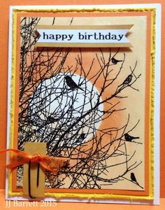 Birds on Trees Birthday by IndigosMom - Cards and Paper Crafts at Splitcoaststampers