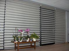 Rolete Zebra 01 - albe pentru suprafete vitrate de mari dimensiuni