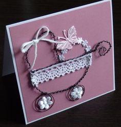 Kočárek z drátu Heart Charm, Charmed, Bracelets, Cards, Baby, Jewelry, Jewlery, Jewerly, Schmuck